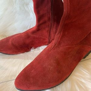 Camper Shoes - *Rare CAMPER Red Bottom Tall Red Boot Gold Shimmer